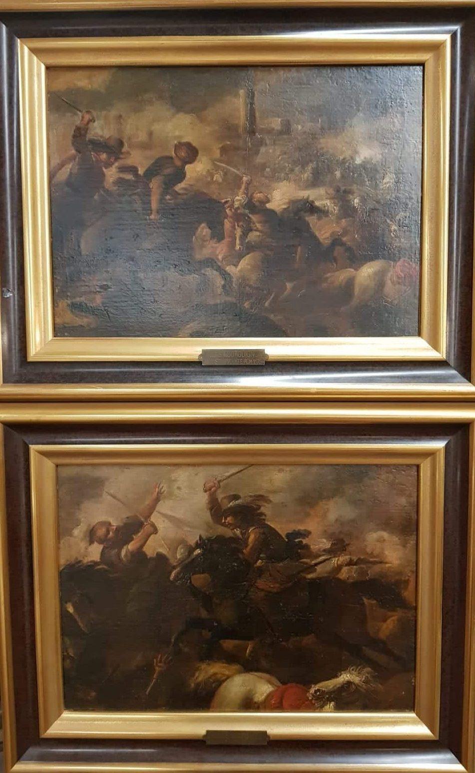 Jacques Courtois Zwei Schlachtenszenen • Antiquitäten