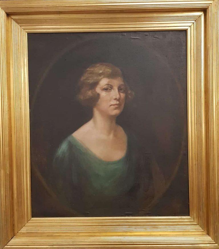 Frauenporträt Kunstausstellung 1914 • Antiquitäten