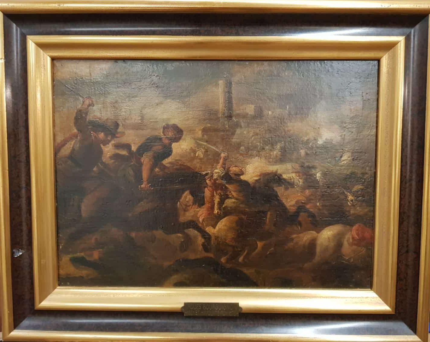 Jaques Bourguignon Zwei Schlachtenszenen Nr.1 • Antiquitäten
