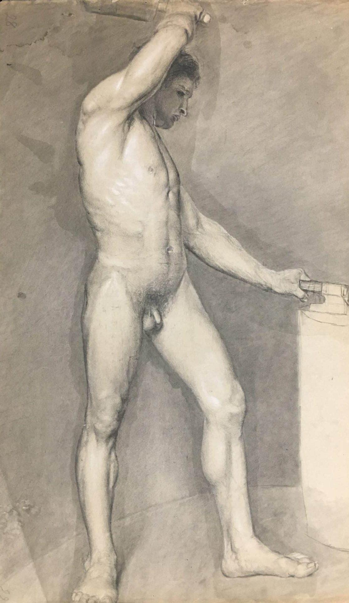 F. Wilhelmi Männerakt • Antiquitäten