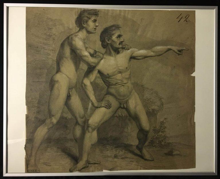 F. Wilhelmi Zwei Männerakte • Antiquitäten