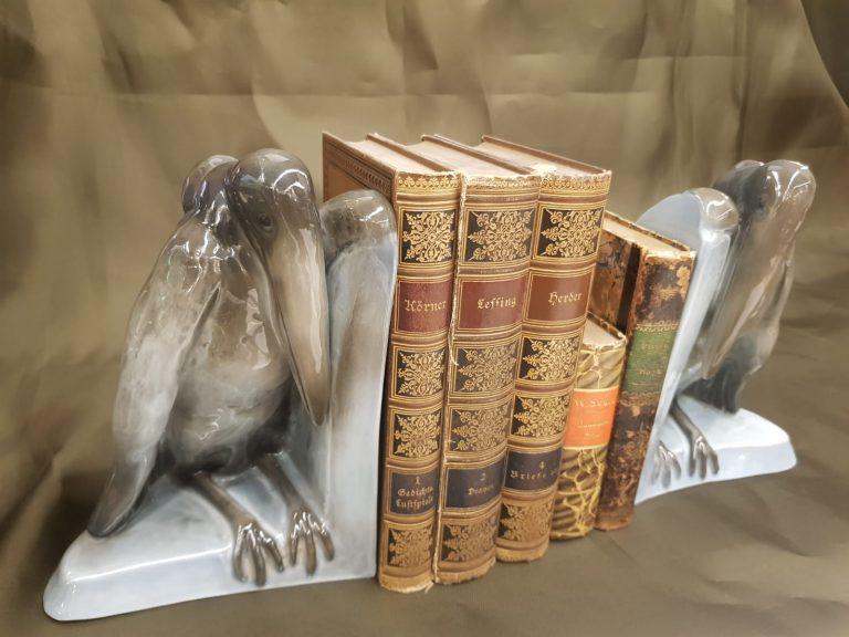 Buchstützen Marabu Rosenthal • Antiquitäten
