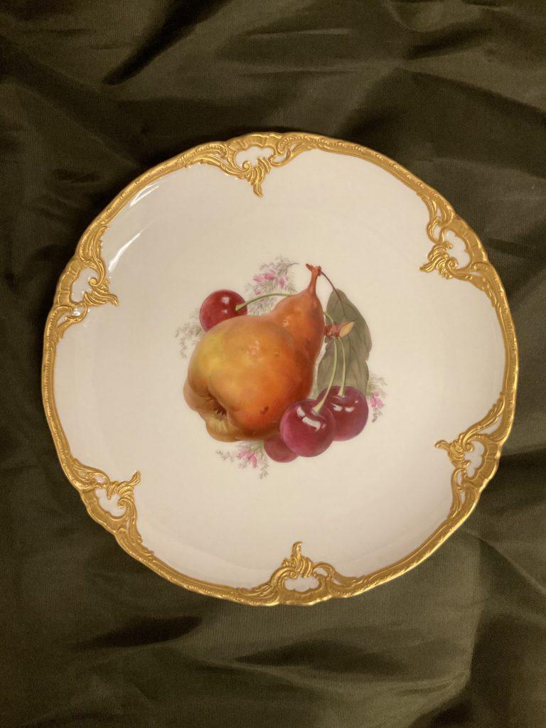 Drei Prunkteller Obstmotive KPM • Antiquitäten