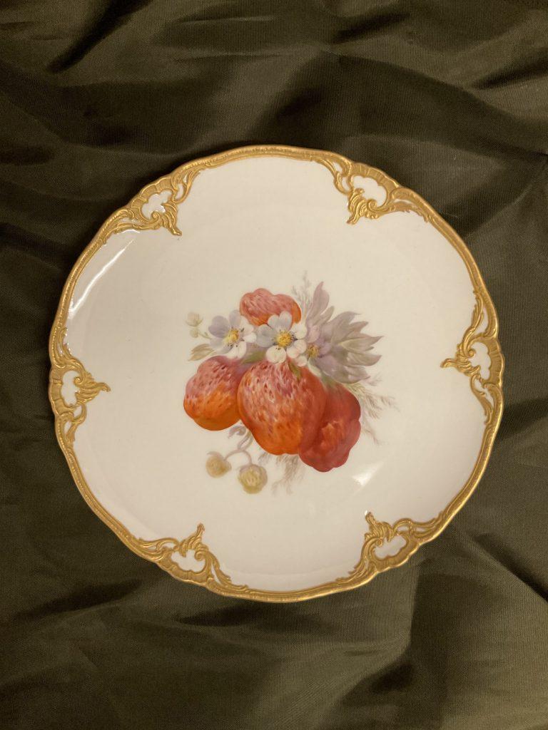 Fünf Prunkteller Obstmotive KPM • Antiquitäten