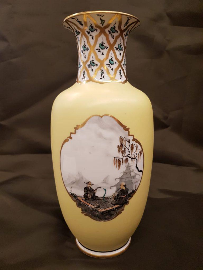 Gelbe Vase Nymphenburg • Antiquitäten