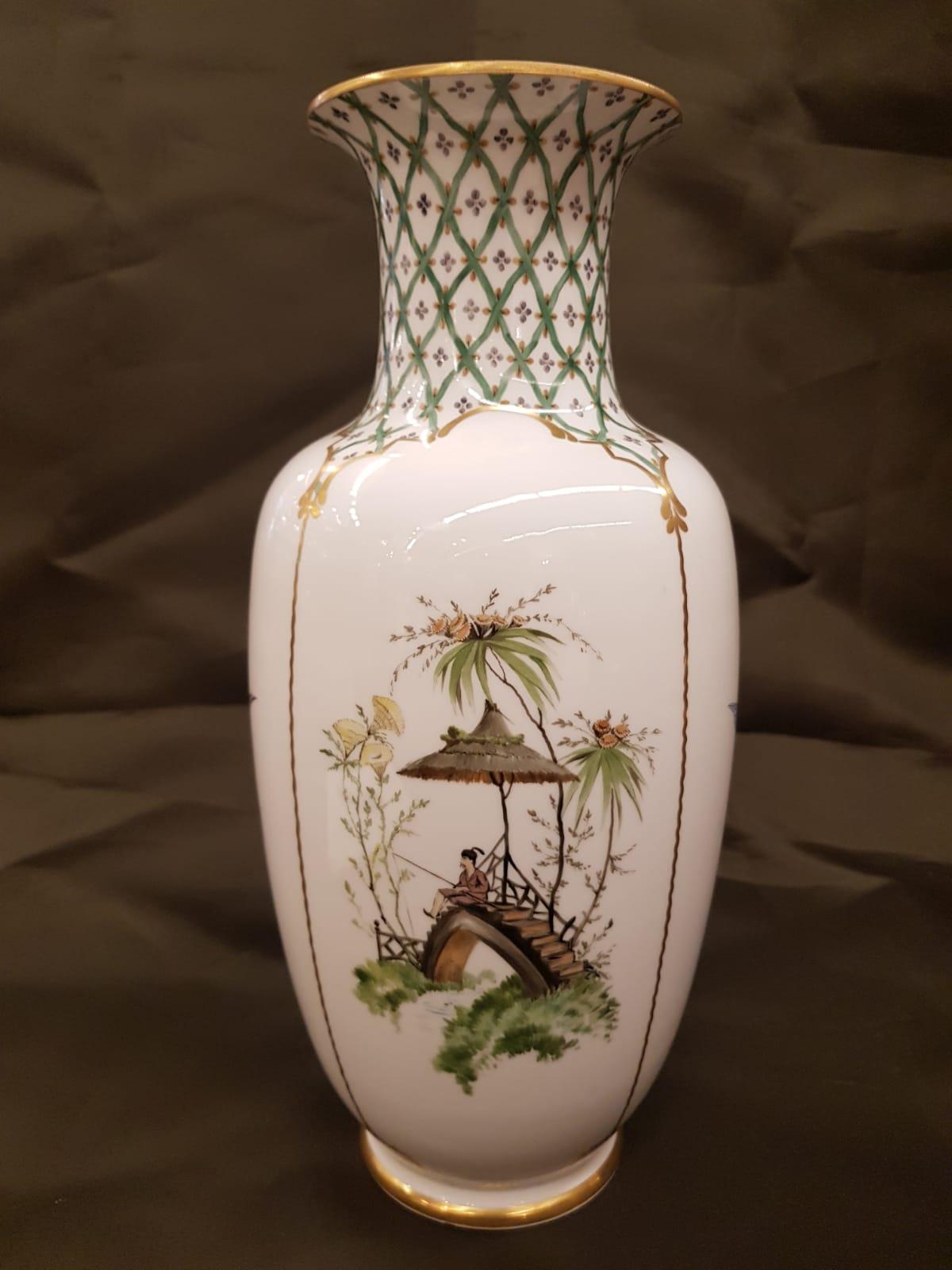 Weiße Vase Nymphenburg • Antiquitäten
