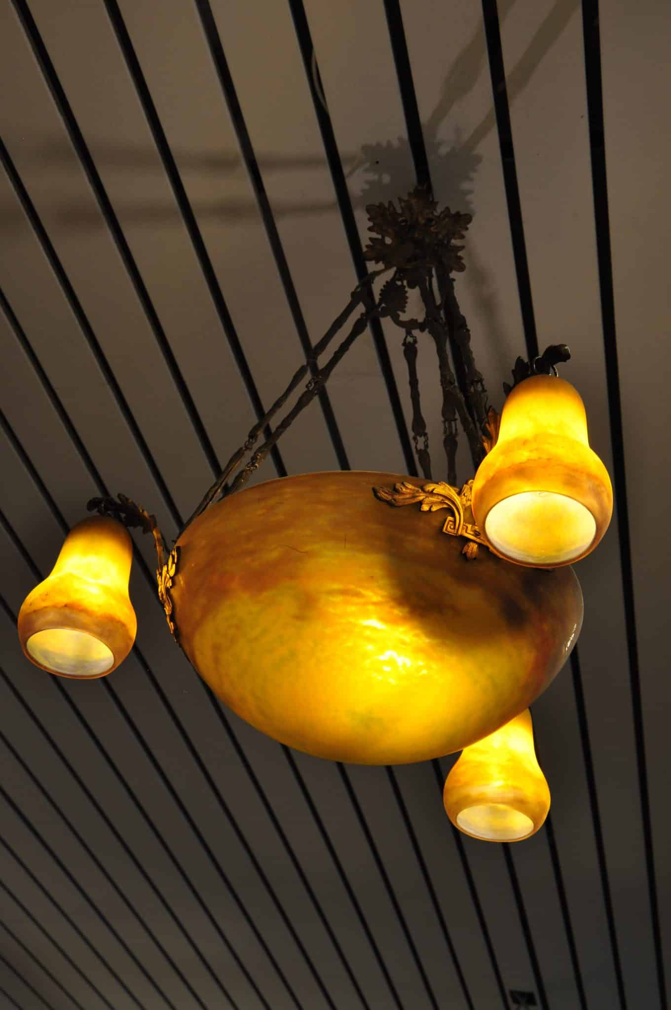 Deckenlampe Muller Frères • Antiquitäten