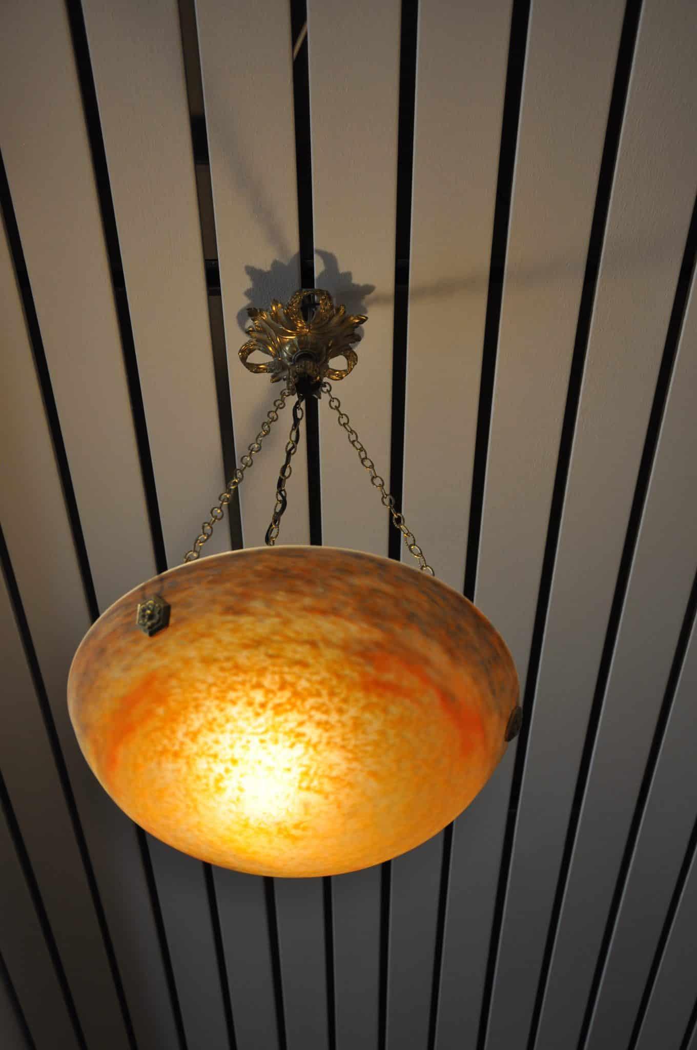 Deckenlampe Schale Muller Frères • Antiquitäten