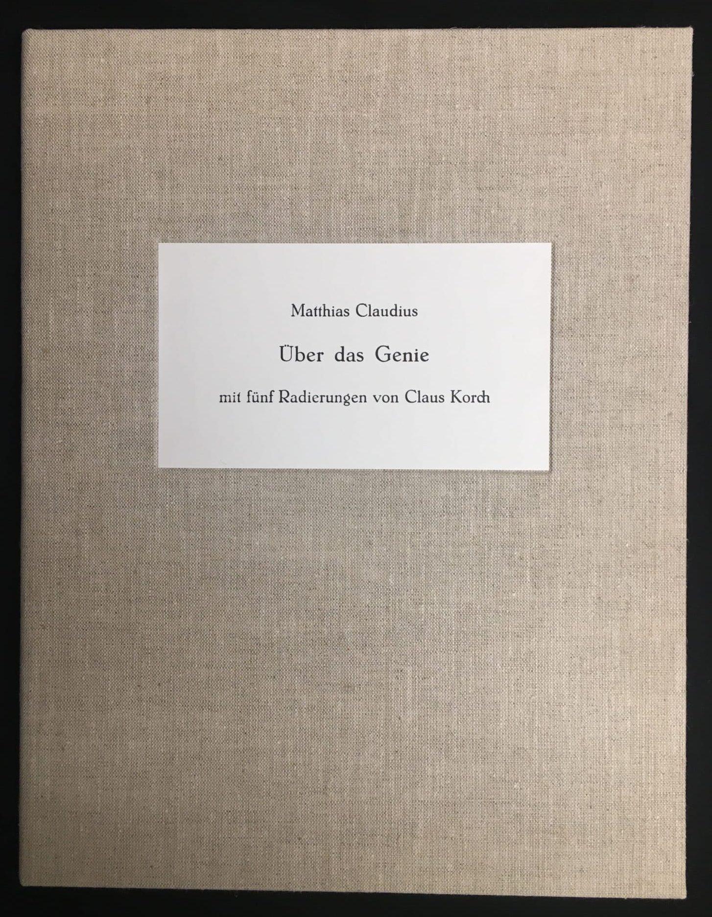 Claus Korch Mappe mit 5 Radierungen • Antiquitäten