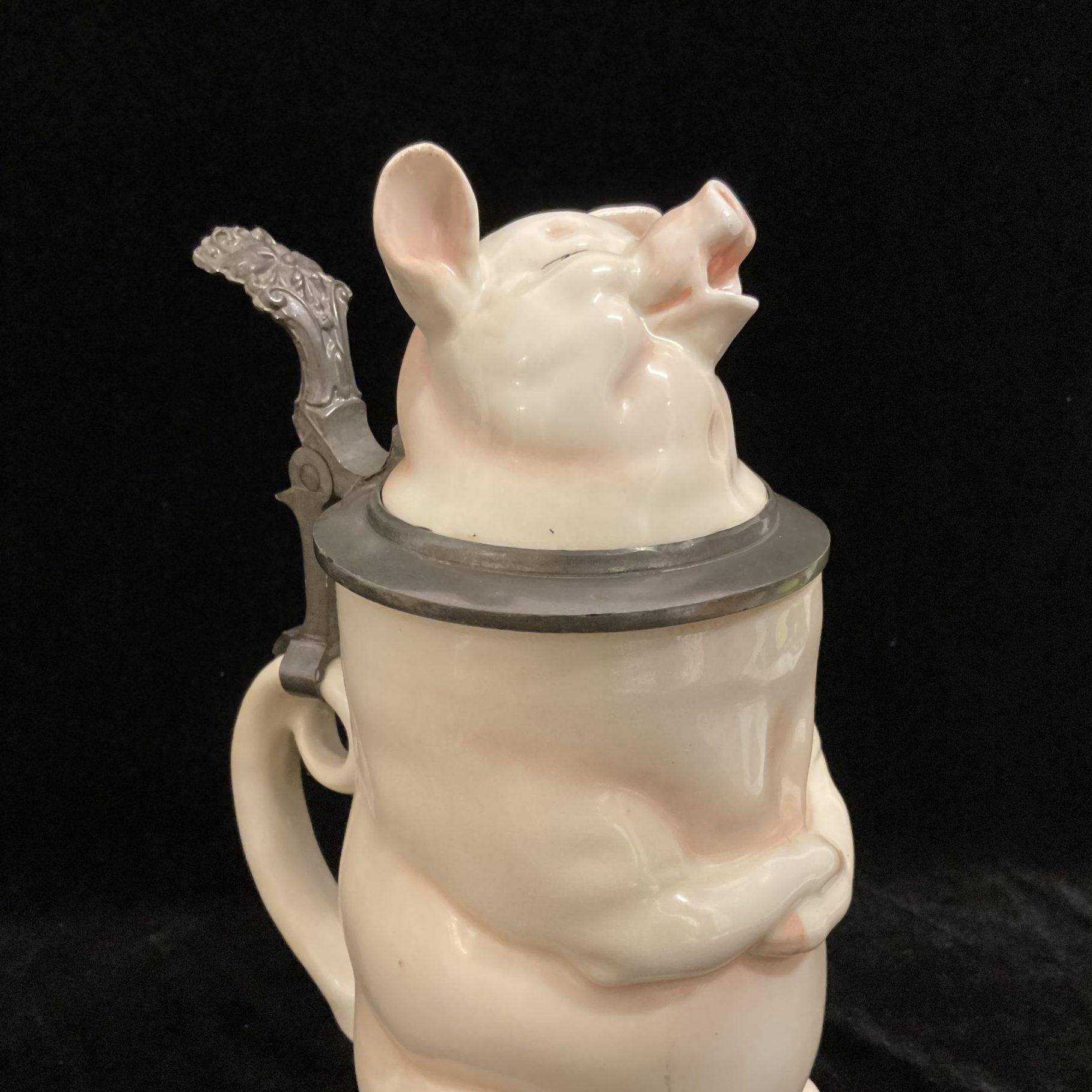 Trinkkrug Schwein • Antiquitäten