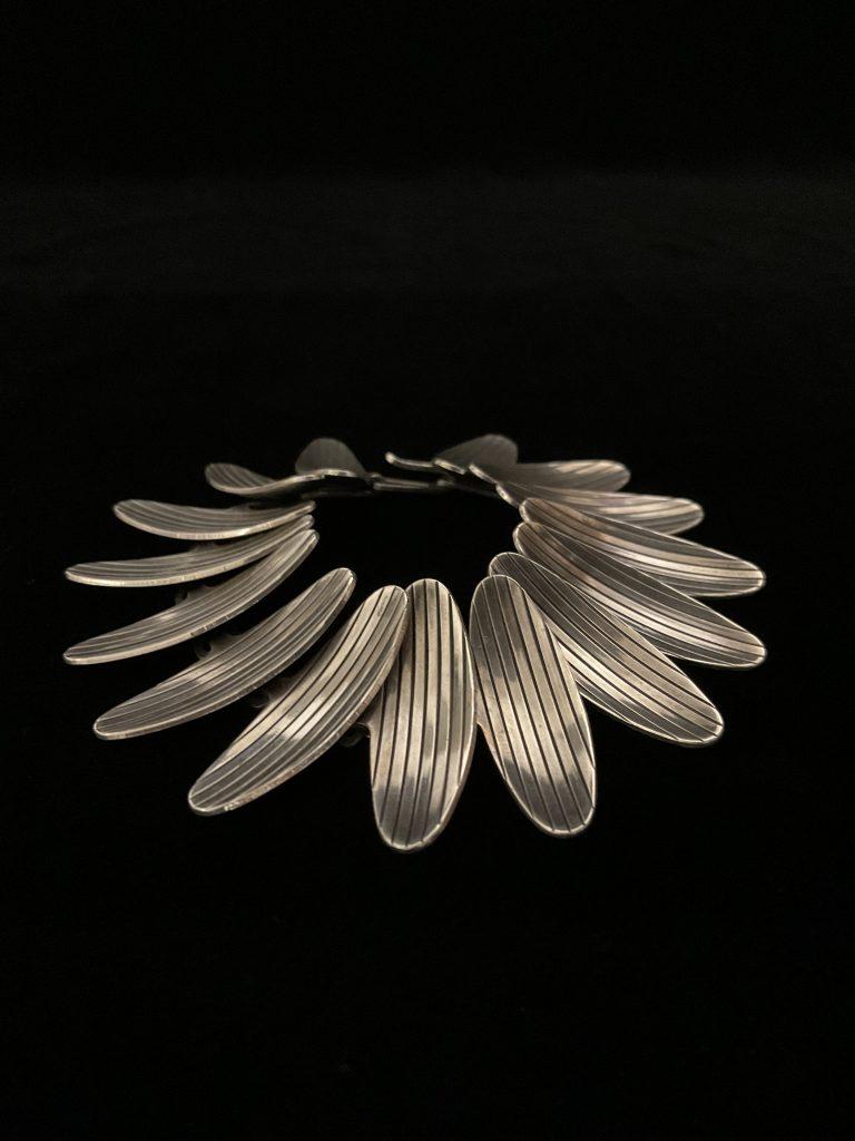 Midcentury-Silberarmband Atelier Borgila • Antiquitäten