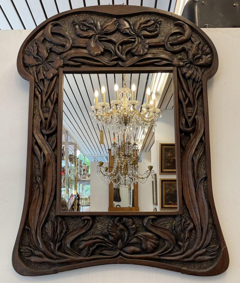 Geschnitzter Spiegel Jugendstil • Antiquitäten