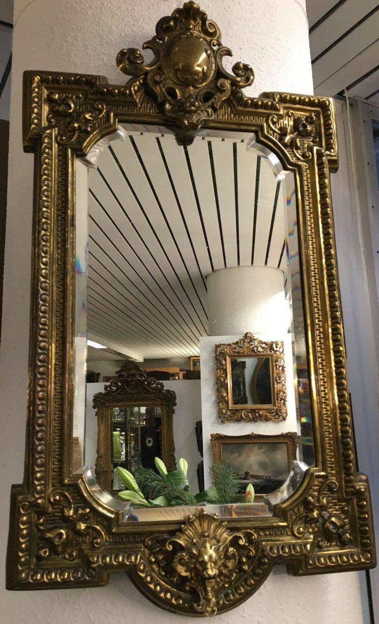 Wandspiegel Messing • Antiquitäten