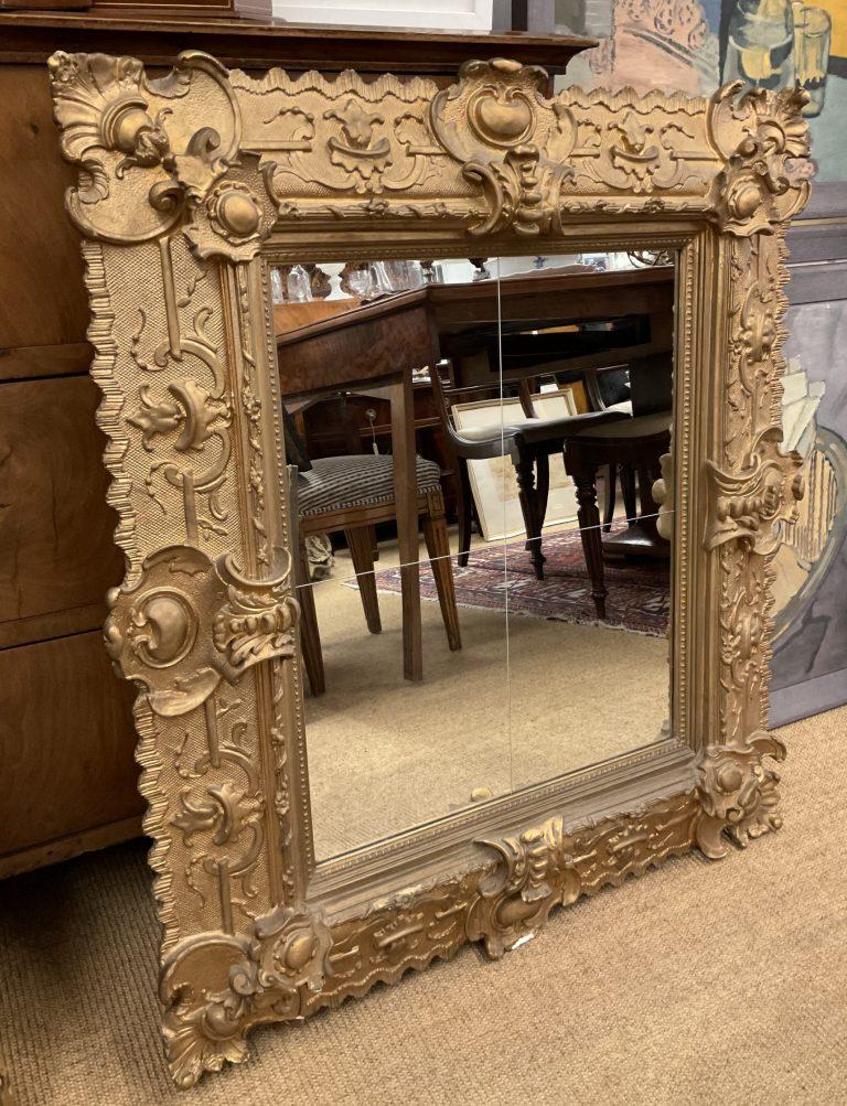 Goldfarbener Spiegel • Antiquitäten