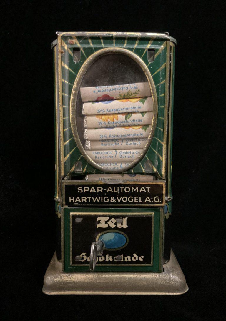 Spar- und Schokoladenautomat • Antiquitäten