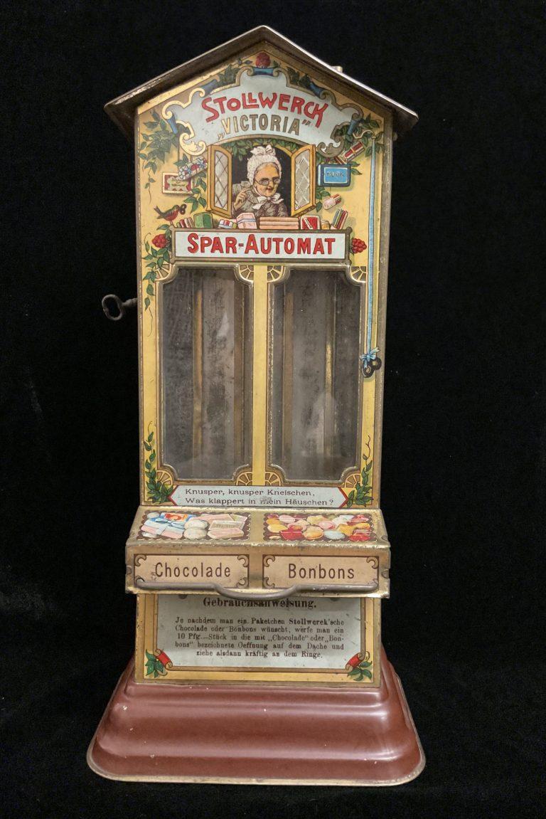 Spar- und Schokoladenautomat Victoria • Antiquitäten