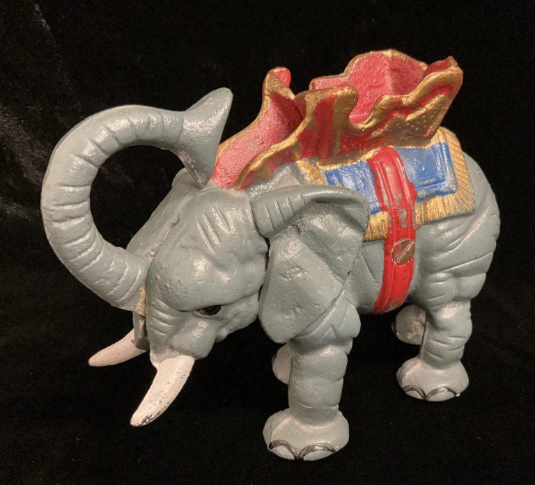 Mechanische Spardose Elefant • Antiquitäten