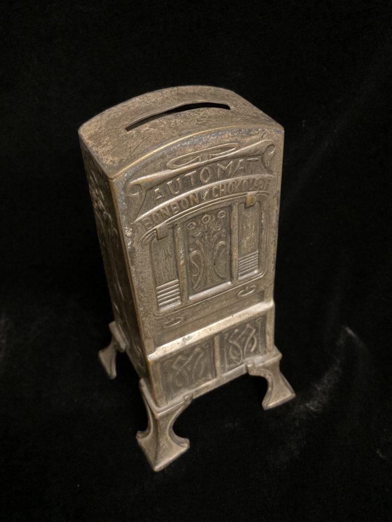 Jugendstil Spar- und Schokoladenautomat • Antiquitäten