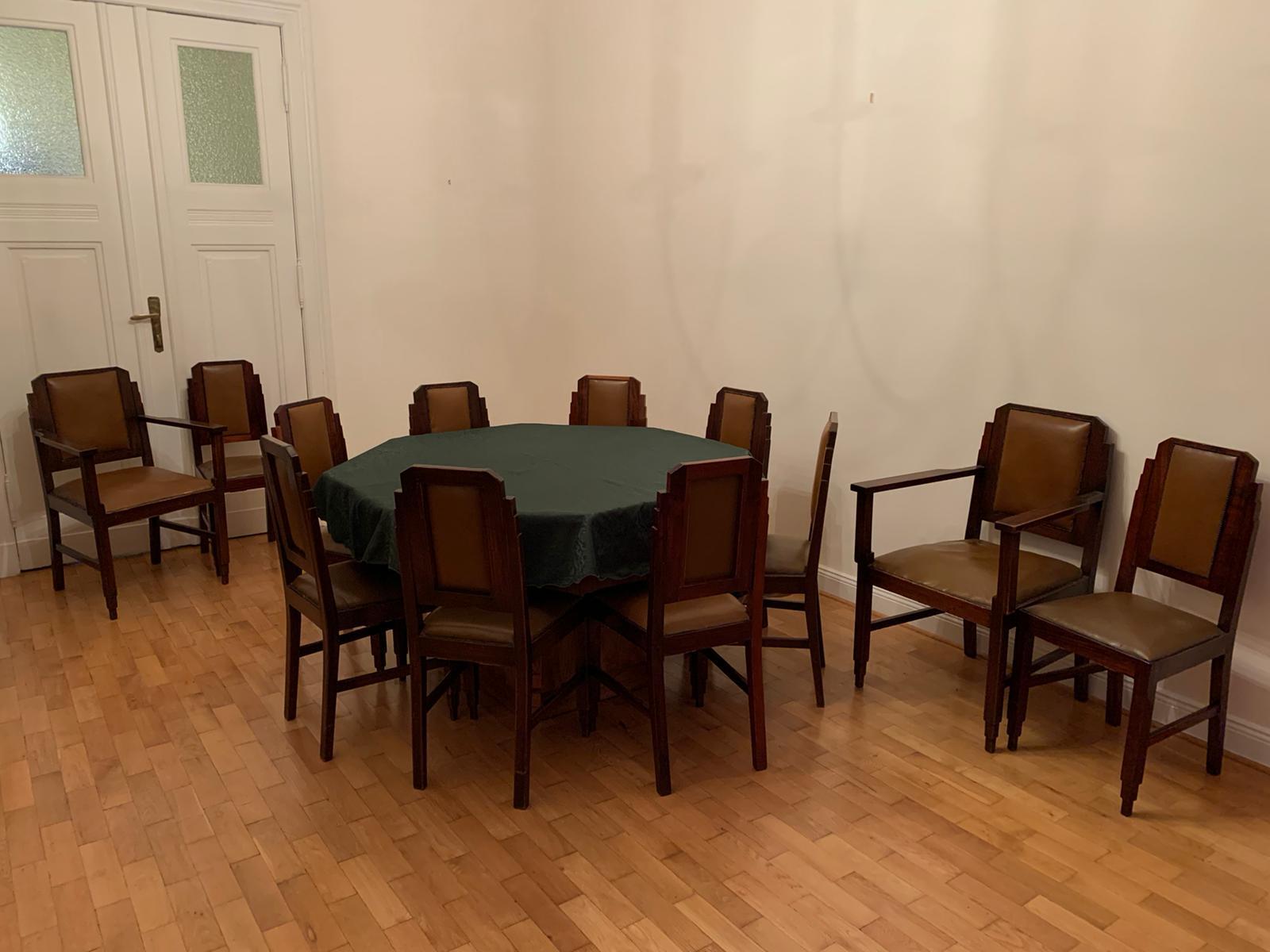 Art Déco Tisch und Stühle (um 1925) • Antiquitäten
