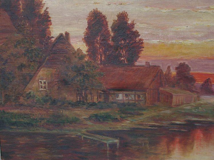 R. Baginski 1930 Öl auf Leinwand