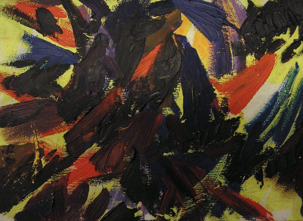 Helmut Dittmann Ölgemälde auf Pressspan Nr. 190
