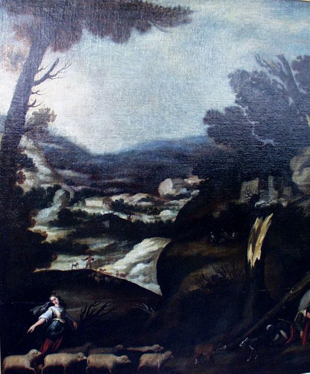 Francisco Collantes Die Begegnung von Jakob und Rahel am Brunnen