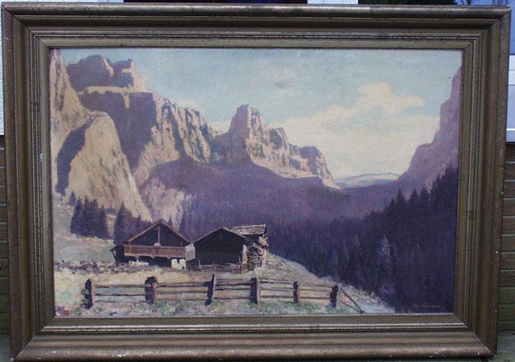 """Herbert Kuron (1888-1951) """"Gebirgslandschaft"""" • Antiquitäten"""