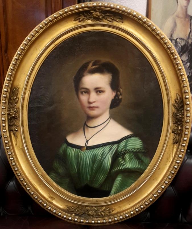 Frauenporträt 2. Hälfte 19. JH • Antiquitäten